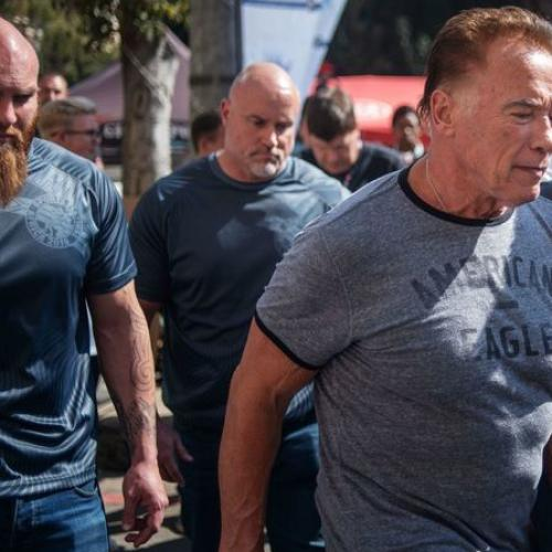 Arnold Schwarzenegger Left On The Ground