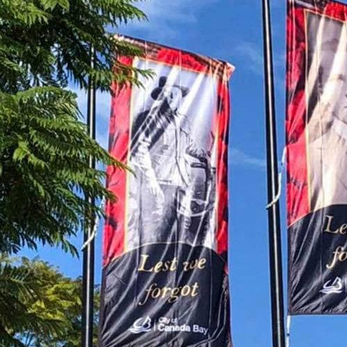 Anzac Day Banners Removed Due To Offensive Spelling Error