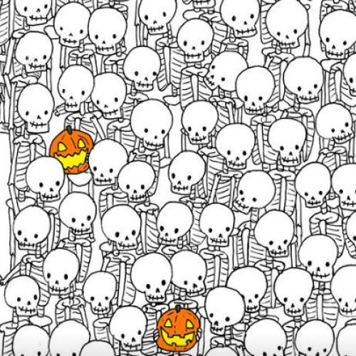 Can You Find The Ghost Among The Skeletons in This Puzzle?