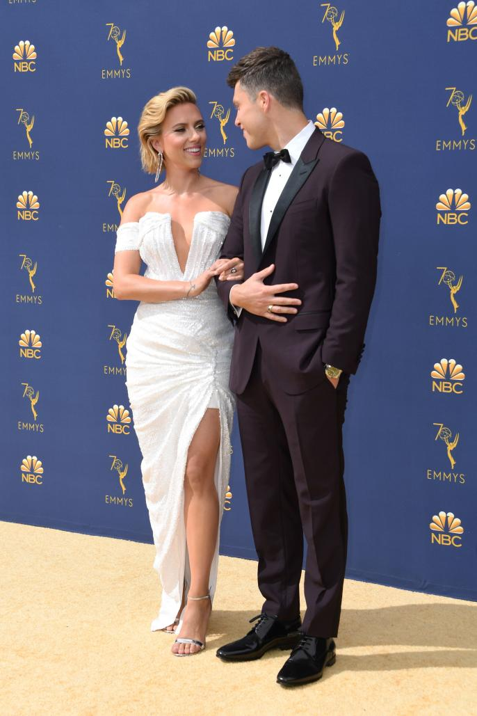 http://Scarlett%20Johansson%20and%20Colin%20Jost%20arrive%20for%20the%2070th%20Emmy%20Awards%20at%20the%20Microsoft%20Theatre%20in%20Los%20Angeles,%20California%20on%20September%2017,%202018.%20(Photo%20by%20VALERIE%20MACON%20/%20AFP)%20%20%20%20%20%20%20%20(Photo%20credit%20should%20read%20VALERIE%20MACON/AFP/Getty%20Images)