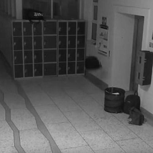 More Spooky Cctv Footage From 'Haunted' High School