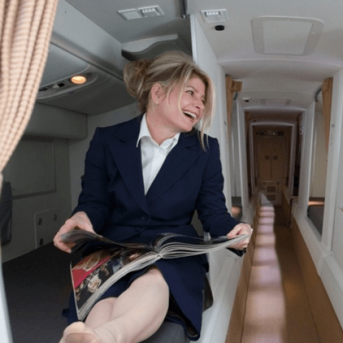 Where Do Aircraft Cabin Crew Go To Take A Break?