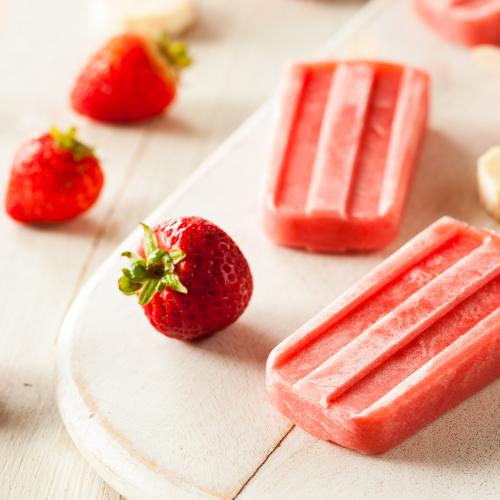 Use Those Strawberries To Make Ice Blocks!
