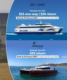 Kangaroo Island Ferry Rides Going Super Cheap For #BookThemOut Campaign