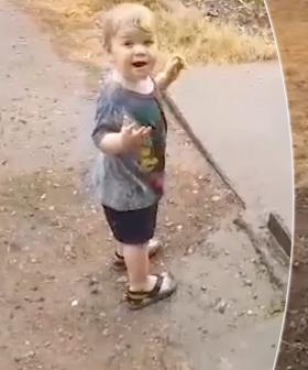 18-Month-Old Boy Dances As He Sees Rain For The First Time