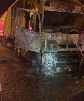 Big Delays On Freeway Following Truck Fire In Early Hours Of Morning