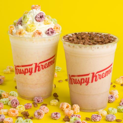 Krispy Kreme's Collab-ing With Kellogg's To Release Froot Loops & Coco Pops Milkshakes!