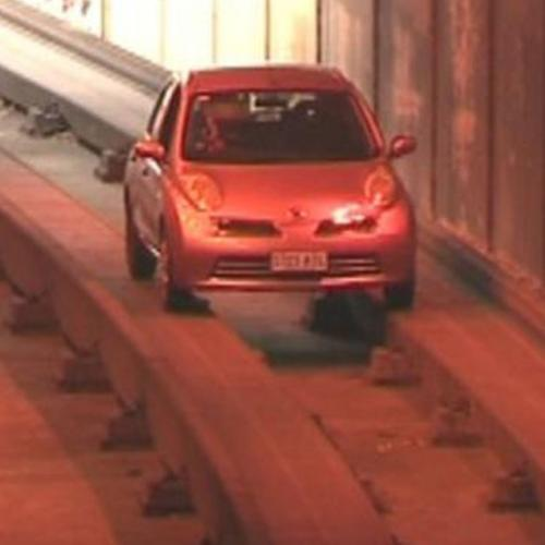 A Motorist Has Driven On The O-Bahn Track Which Means It Must Be A Thursday Today