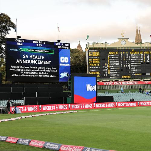 Cricket Fans At Last Night's Big Bash Game Screened After Fears Victorian From Hotspot Attended