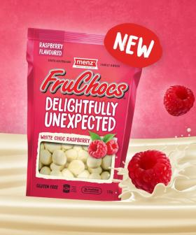 South Australia's FruChocs Have Released A White Choc Raspberry Flavour!