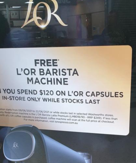 Woolworths Supermarkets Is Giving Away FREE Coffee Machines In Amazing New Promotion