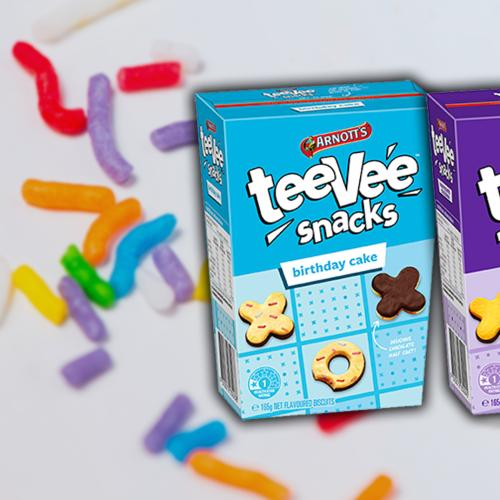 Arnott's Teevee Snacks Now Come In Birthday Cake & Honeycomb Chocolate Flavour!